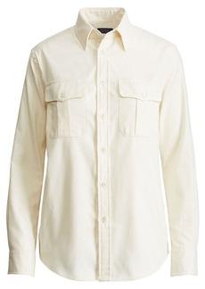 Ralph Lauren Cotton Twill Military Shirt