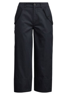 Ralph Lauren Cotton Twill Wide-Leg Pant