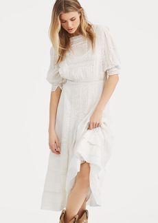 Ralph Lauren Cotton Voile Midi Dress