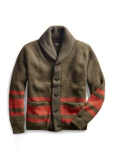 Ralph Lauren Cotton-Wool Shawl Cardigan