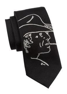 Ralph Lauren Cowboy Print Silk Tie