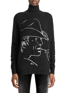 Ralph Lauren 50th Anniversary Cowboy Silhouette Turtleneck Sweater