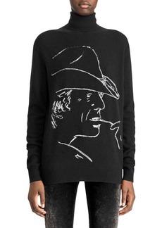 Ralph Lauren 50th Anniversary Cowboy Silhouette Turtleneck Sweater