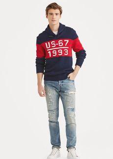Ralph Lauren CP-93 Cotton Shawl Sweater