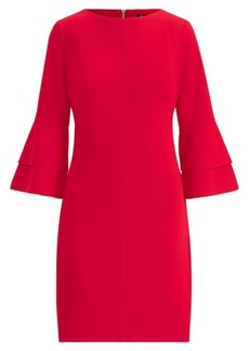 Ralph Lauren Crepe Bell-Sleeve Dress