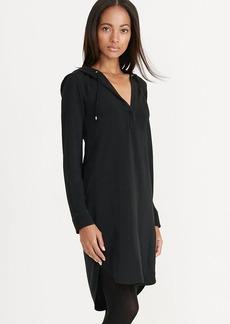 Crepe Hooded Dress