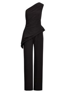 Ralph Lauren Crepe One-Shoulder Jumpsuit