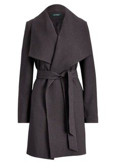 Ralph Lauren Crepe Open-Front Coat