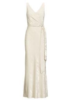 Ralph Lauren Crepe Shimmer Gown