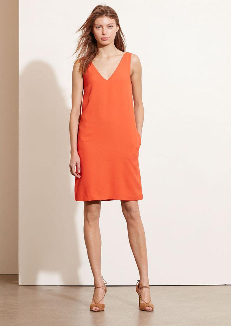 Ralph Lauren Crepe Sleeveless Shift Dress