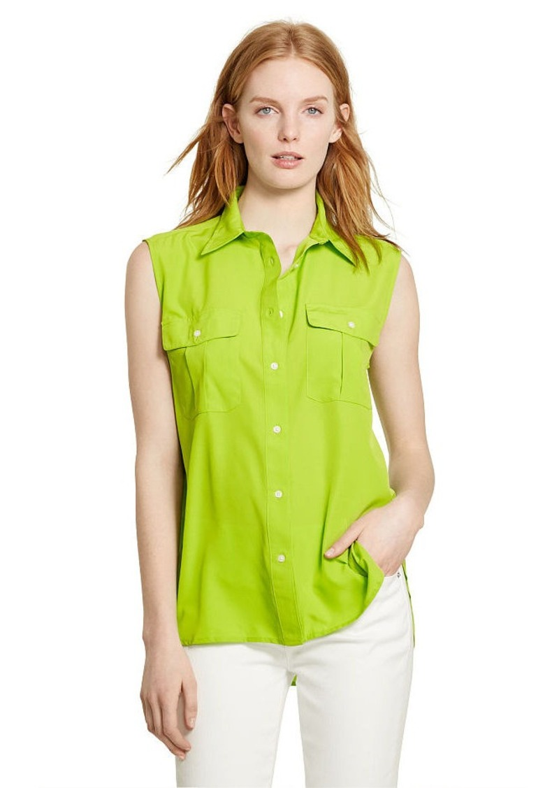 Ralph Lauren Crepe Sleeveless Workshirt