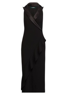 Ralph Lauren Crepe Tuxedo Dress