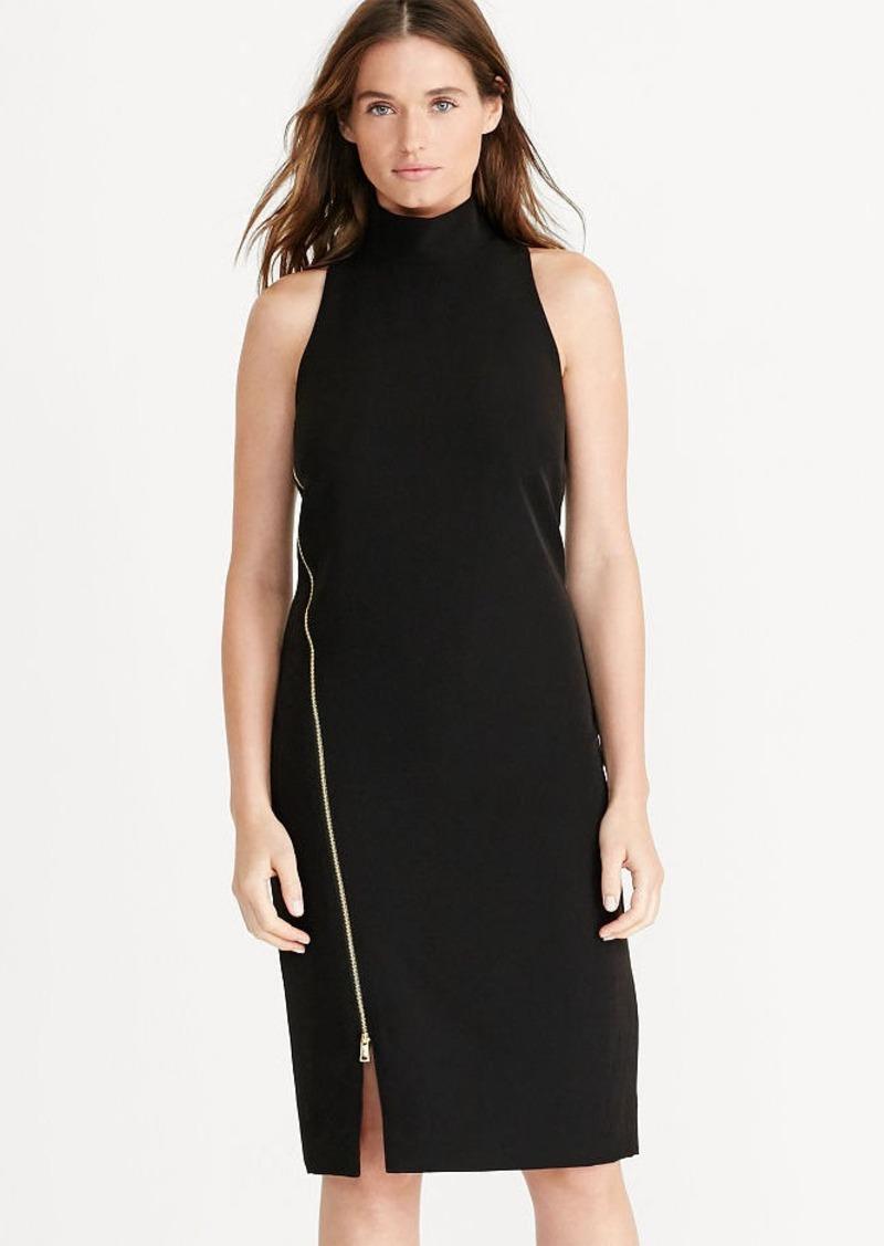 Ralph Lauren Crepe Zip-Front Dress