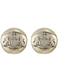 Ralph Lauren Crest Clip Button Earrings