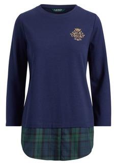Ralph Lauren Crest Cotton Layered Top