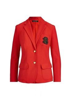 Ralph Lauren Crest Cotton Piqué Blazer
