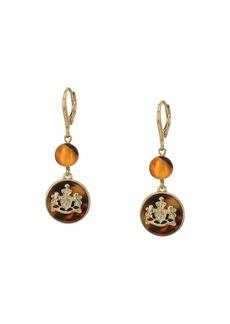 Ralph Lauren Crest Double Drop Earrings
