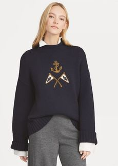 Ralph Lauren Crest Embroidered Wool Sweater