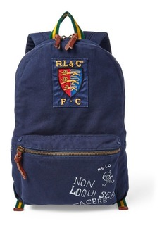 Ralph Lauren Crested Canvas Backpack