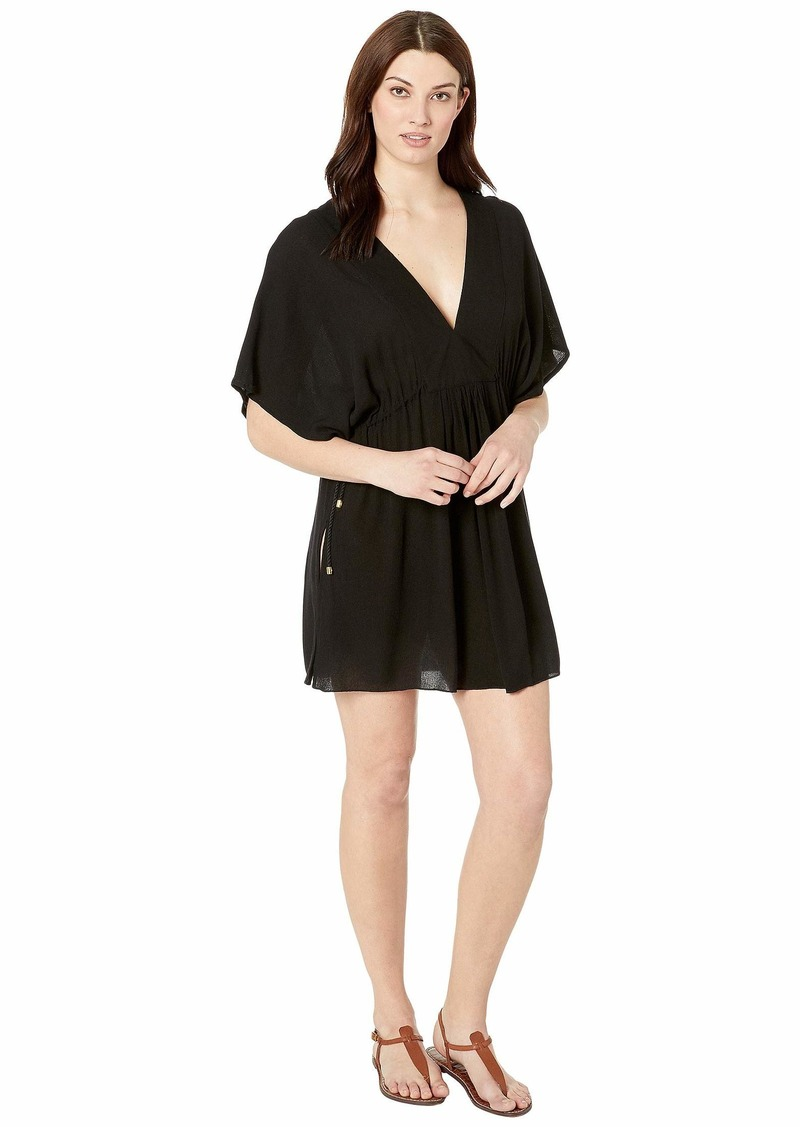Ralph Lauren Crinkle Rayon Cover-Up Tunic Dress