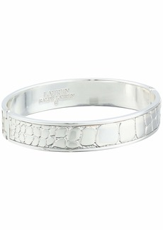 Ralph Lauren Croc Pattern Bangle Bracelet