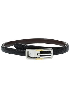 Ralph Lauren Croc to Smooth Reversible Belt with Two-Tone Buckle