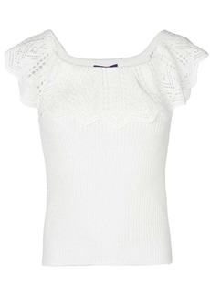 Ralph Lauren crochet off shoulder top