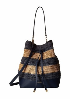 Ralph Lauren Crochet Straw Debby Drawstring Medium