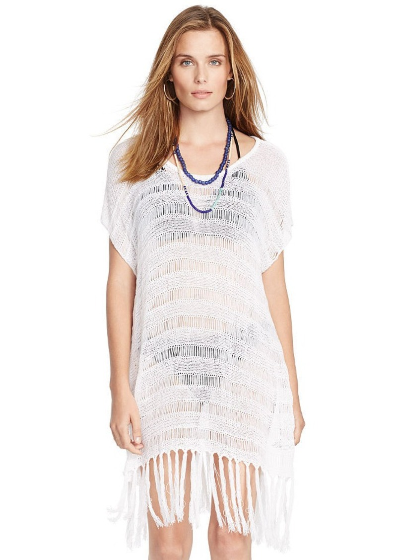 Ralph Lauren Crocheted Poncho Cover-Up