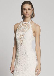 Ralph Lauren Crocheted Silk Halter Gown