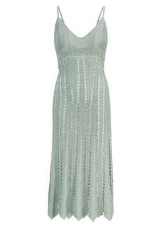 Ralph Lauren Crocheted Silk Slip Dress