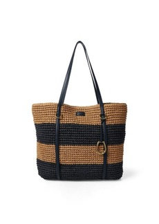 Ralph Lauren Crocheted Straw Large Tote
