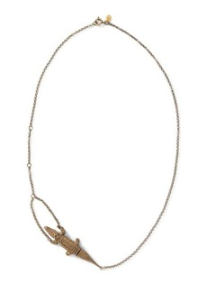 Ralph Lauren Crocodile Gold Chain Necklace