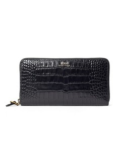Ralph Lauren Crocodile-Print Leather Wallet
