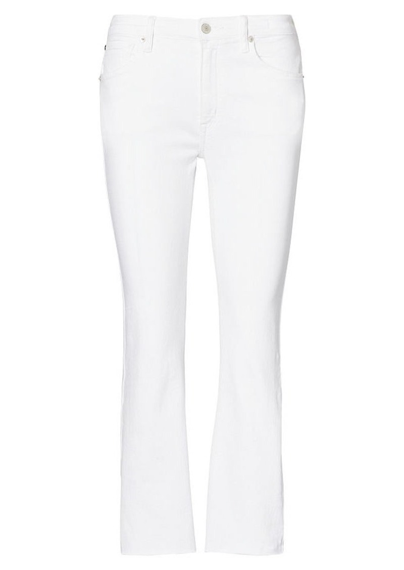 Ralph Lauren Crop High-Rise Flare Jean