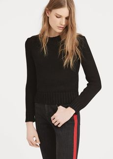 Ralph Lauren Cropped Cotton Sweater