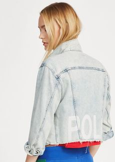 Ralph Lauren Cropped Denim Trucker Jacket
