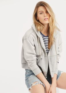 Ralph Lauren Cropped Fleece Full-Zip Hoodie