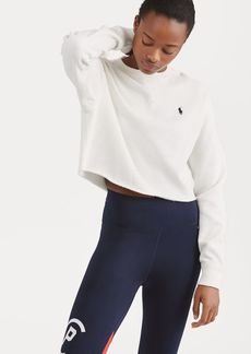Ralph Lauren Cropped Fleece Sweatshirt