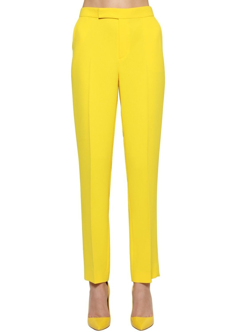 Ralph Lauren Cropped Straight Leg Crepe Cady Pants