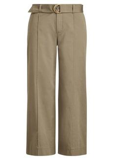 Ralph Lauren Cropped Twill Wide-Leg Pant