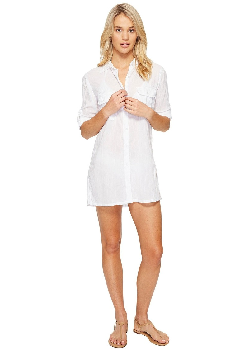 Ralph Lauren Crushed Camp Shirt Cover-Up
