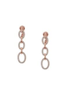 Ralph Lauren Crystal Clip Linear Drop Earrings