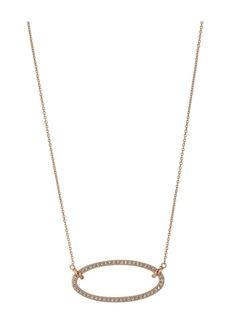 Ralph Lauren Crystal Clip Link Pendant Necklace
