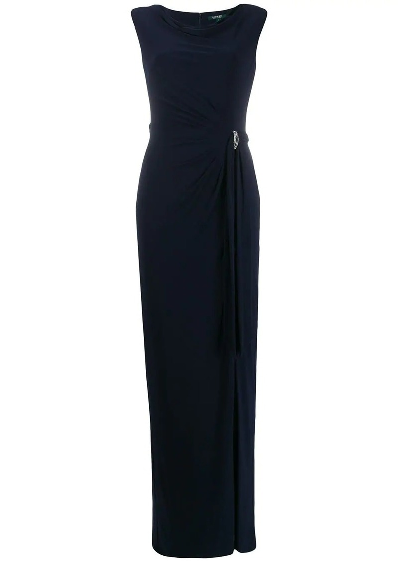 Ralph Lauren crystal embellished evening dress