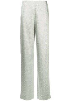 Ralph Lauren crystal embellished straight trousers