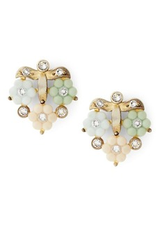 Ralph Lauren Crystal Flower Stud Earrings