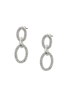 Ralph Lauren Crystal Pave Link Drop Earrings