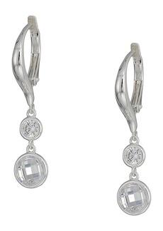 Ralph Lauren Cubic Zirconia Double Drop Earrings