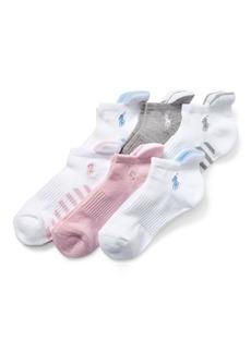 Ralph Lauren Cushioned Heel Low Sock 6-Pack